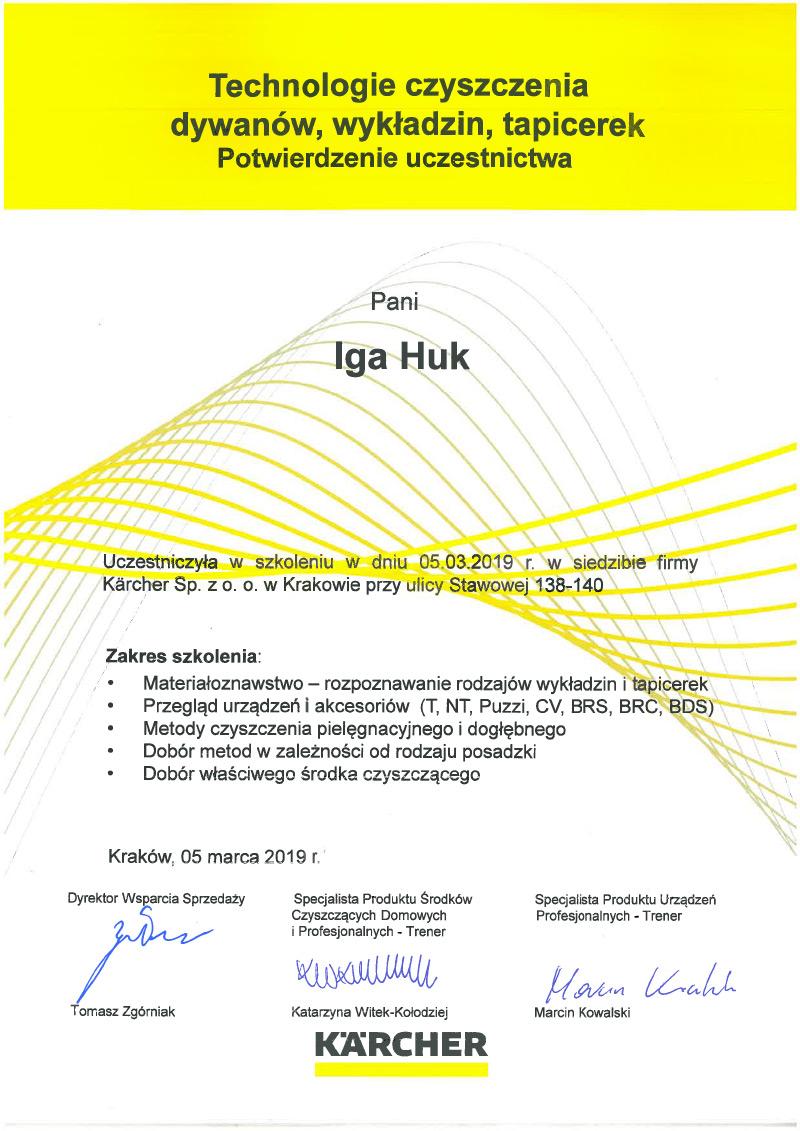 Certyfikat - Karcher
